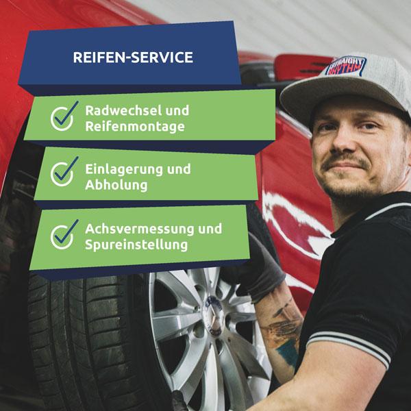 Unser Reifenservice in Rostock hilft Dir beim Reifenwechsel und der Reifeneinlagerung.