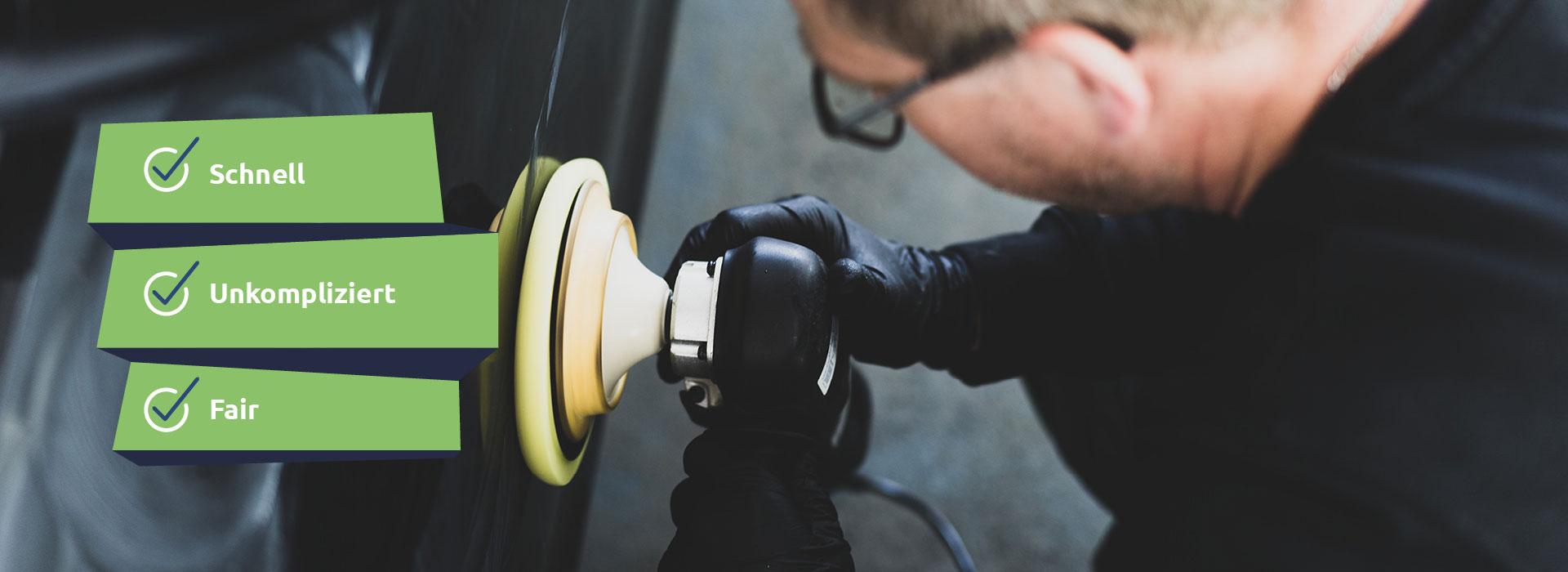 Smart Repair in Rostock bei Kleinschäden wie Lackkratzern, Brandlöchern im Sitzpolster und Dellen.