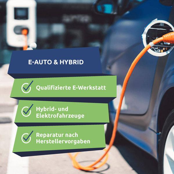 Zertifizierte Werkstatt für E-Autos. Wir reparieren und warten Elektrofahrzeuge.